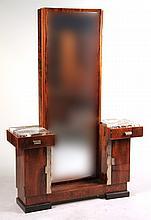 Art Deco Chrome-Mounted Marble Top Vanity
