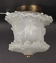 Contemporary Molded Frosted Glass Lamp