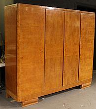 Art Deco Burlwood Armoire