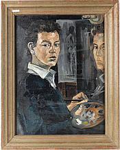 Oil on Board Self Portrait of an Artist