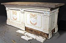 Polychrome & White Porcelain Sideboard