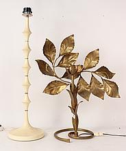 Gilt Metal Flora Form Table Lamp