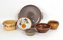 Six Ceramic and Stoneware Bowls, Continental