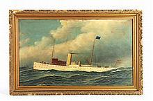 Oil on Board, Antonio Jacobsen