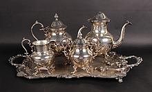 Four Piece Silver Plated Tea/Coffee Set
