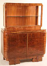 Art Deco Walnut Cabinet, French, Early 20th C.