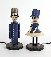 Pair of Children's Figural Table Lamps