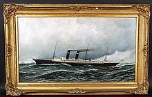 Oil on Board, Antonio Jacobsen, 1912