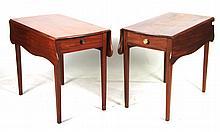 Two Similar Federal Mahogany Pembroke Tables