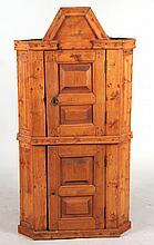 Pine Diminutive Corner Cupboard