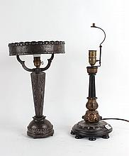 Art Deco Patinated Metal Table Lamp