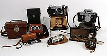 Group of Cameras and Camera Equipment, 20th C., N1HNF