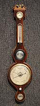 Regency Mahogany Banjo Barometer