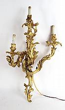 Louis XVI Style Gilt Bronze Wall Sconce