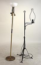 Paint-Decorated Iron Adjustable Floor Lamp