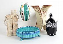 Five Pottery and Ceramic Vessels
