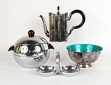 Silver Plated Coffee Pot and Revere Bowl