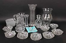 Group of Cut and Pressed Glass Articles
