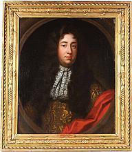 Oil on Canvas, Portrait of Louis 14th