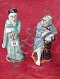 Pair of Chinese porcelain figures