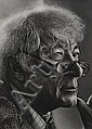 David Russell (20th/21st Century) Seamus Heaney charcoal drawing