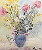 Philip French (20th/21st Century)  Still Life - Flowers in a Vase, Philip French, Click for value