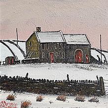 James Downie (20th/21st Century) Winter Farmyard Scene