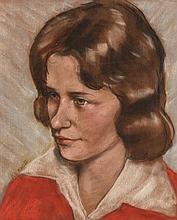 Harry Kernoff RHA (1900-1974) Portrait of Lisa Richards (Abbey Theatre Actor)