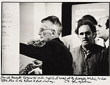 John Minihan (b.1946) Samuel Beckett Listens to Irish Traditional Music at the Riverside Studios London 1984