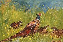 Marie Carroll (20th/21st Century) Pheasants
