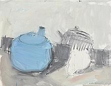 Lisa Ballard (20th/21st Century) Blue Teapot