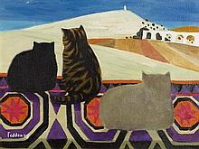 Mary Fedden RA (1915-2012) British Cats (2003)