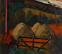 Peter Collis RHA (1929-2012) Farm Gate