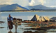 John Skelton Snr (1923-2009) Gathering the Seaweed