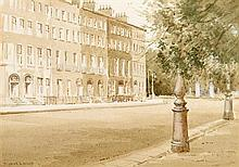 Maurice Canning Wilks ARHA RUA (1911-1984) Merrion Square, Dublin