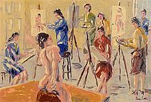 Ivan Sutton (b.1944) The Life Class, Dublin