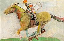 Joseph O'Connor (20th/21st Century) Horse and Jockey, 1991