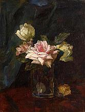 Hans Iten RUA (1874-1930) Still Life - Roses in a Glass Vase