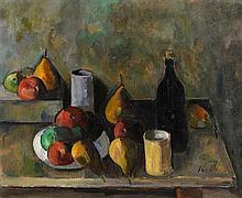 Peter Collis RHA (1929-2012) Still Life With Black Bottle