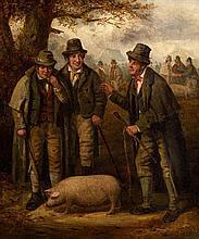 Charles Henry Cook (c.1830-1906) The Pig Market