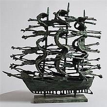 John Behan RHA (b.1938) Famine Ship