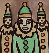 Markey Robinson (1918-1999) Three Clowns