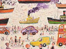 Simeon Stafford (b.1956) Waiting for the Ferry