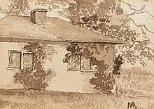 Mildred Anne Butler RWS RUA (1858-1941) Cottage at Kilmurry