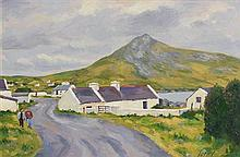 Fergal Flanagan (b.1948) Dugort and Slievemore, Achill, Co. Mayo
