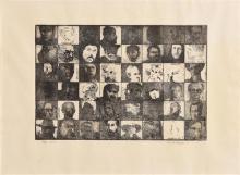 Charles Harper RHA (b.1943) Heads (1974)