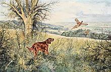 Henry Wilkinson RE ARCA (1921-2011) Irish Setter and Pheasant (1980)