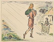 after Jack Butler Yeats RHA (1871-1957) Fionn McCumhaill