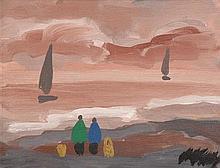 Markey Robinson (1918-1999) Watching the Boats