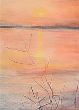 Tom Carr HRHA HRUA ARWS (1909-1999) Sunset of the Lough